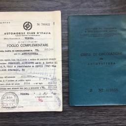 Foglio Complementare and Libretto