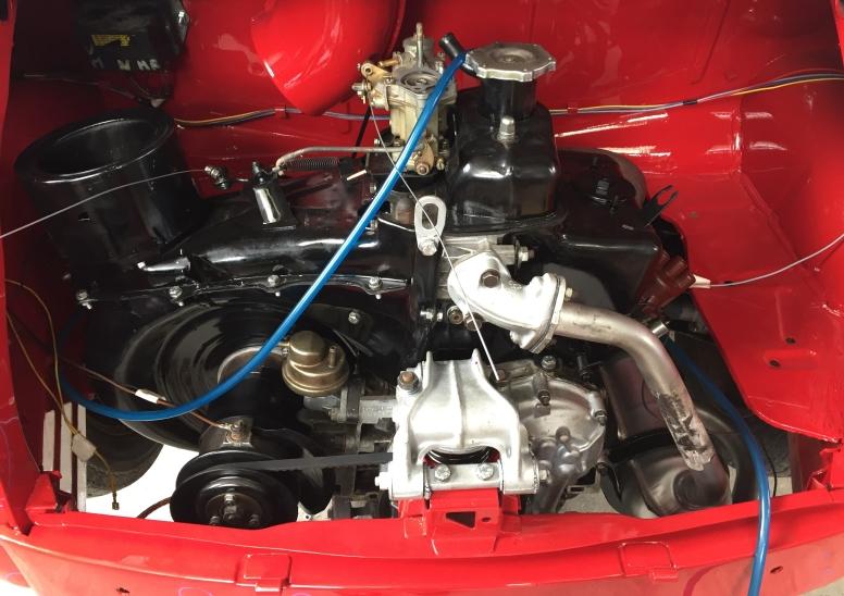Engine Bay & Engine, restored