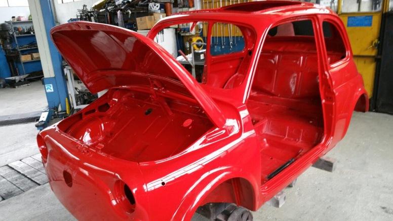 Exterior, restored to original color Rosso Medio (#115)
